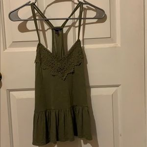Green Lace Camisole Top
